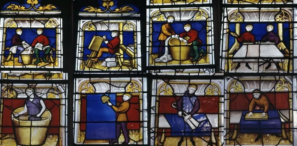 Germania, vetrate di una chiesa di Semur-en-Auxois, 1460 circa