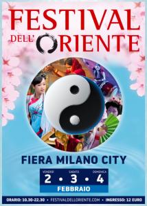 Ecco la locandina del Festival dell'Oriente a Milano