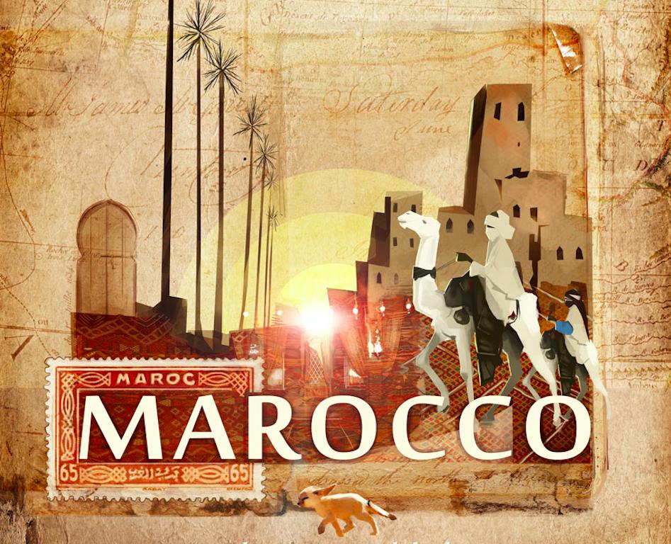 Marocco, disegno di Luca Schenato